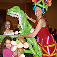 Miami, Coral Gables tourists, could call a balloon artist to entertain family at lunch, dinner