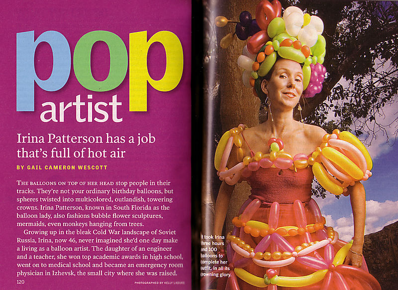 PopArtist - Irina Patterson has a job that's full of hot air