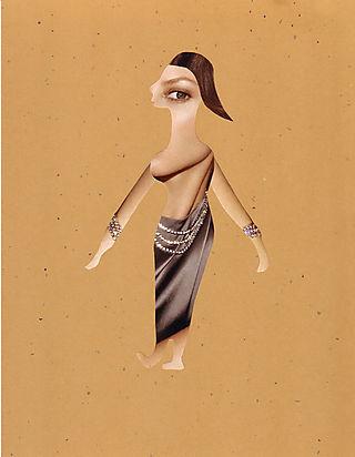 Nefertiti, Artist Irina Patterson, paper cut