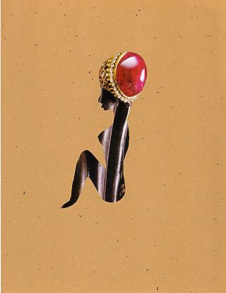 Goddess in turban, Artist Irina Patterson, paper cut