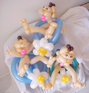 By Irina: Miami Baby Shower. Balloon Art is Great for Baby Shower