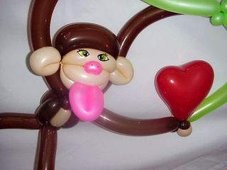 7Monkey Heart -Miami-Balloon Art