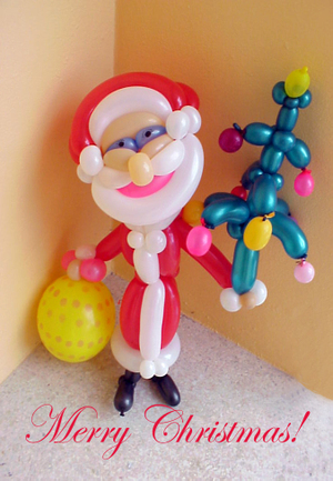Balloon_art_santa_1