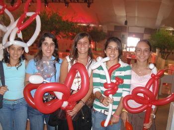 Balloon art entertainment at Adrienne Arsht Center, Miami, Florida